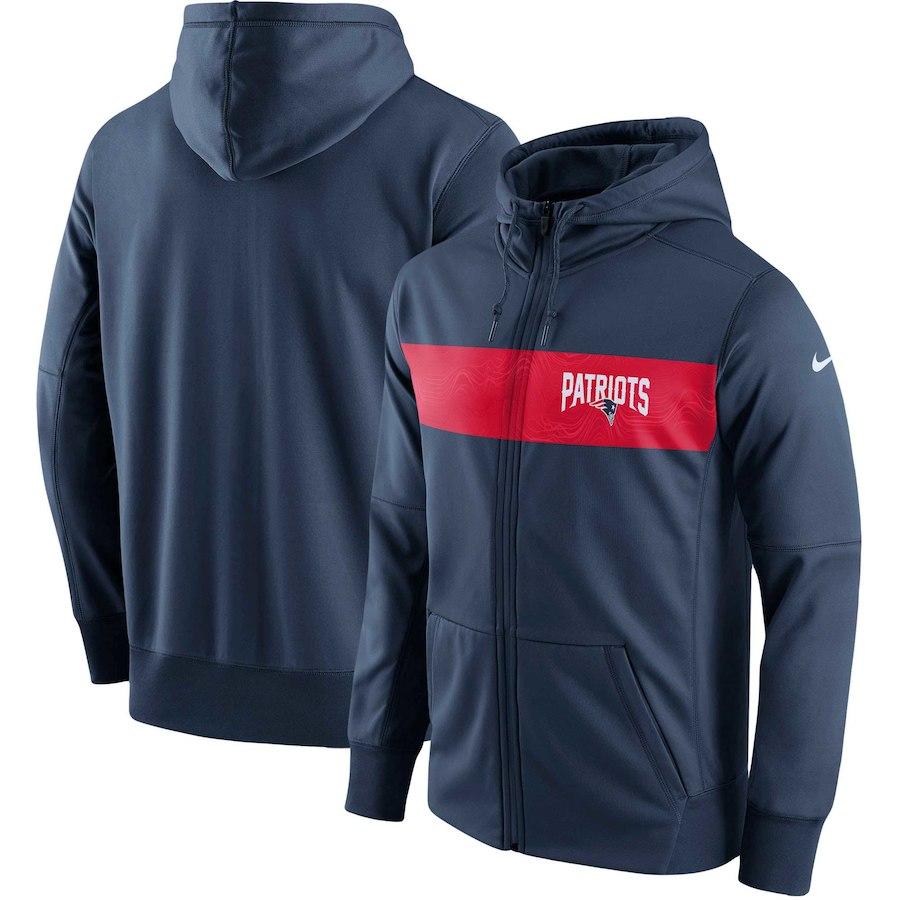 お取り寄せ NFL ペイトリオッツ パーカー/フーディー フルジップ サイドライン パフォーマンス ナイキ/Nike