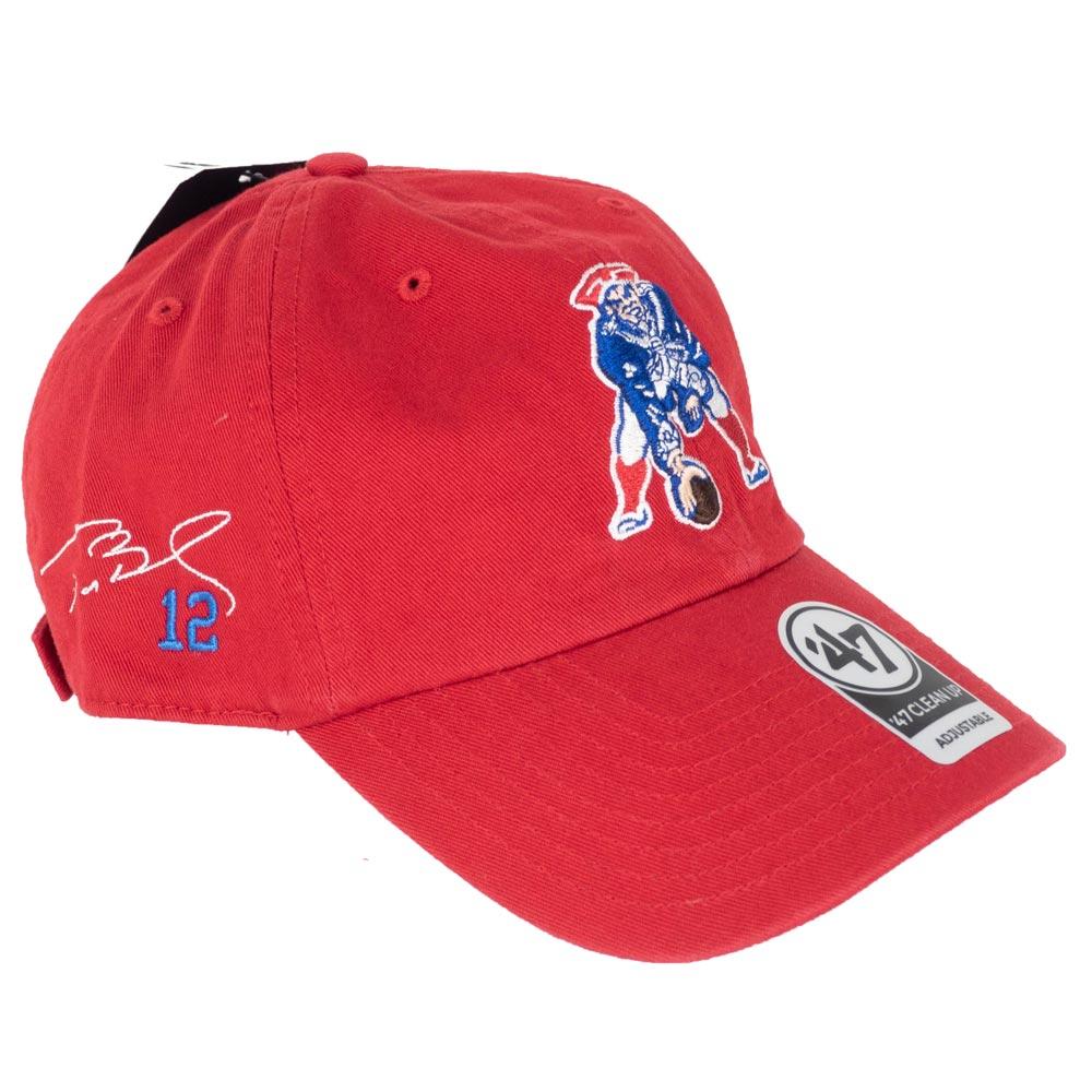 NFL ペイトリオッツ トム・ブレイディ キャップ/帽子 サイン刺繍入り カスタマイズ 47 Brand