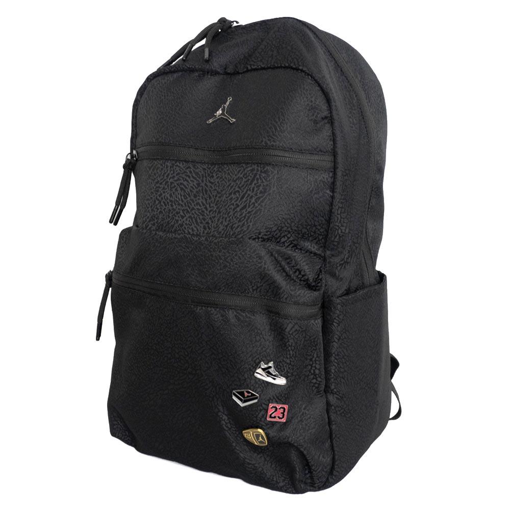 MLB NBA NFL Goods Shop  Nike Jordan  NIKE JORDAN backpack pins black ... e15261d2fafa7