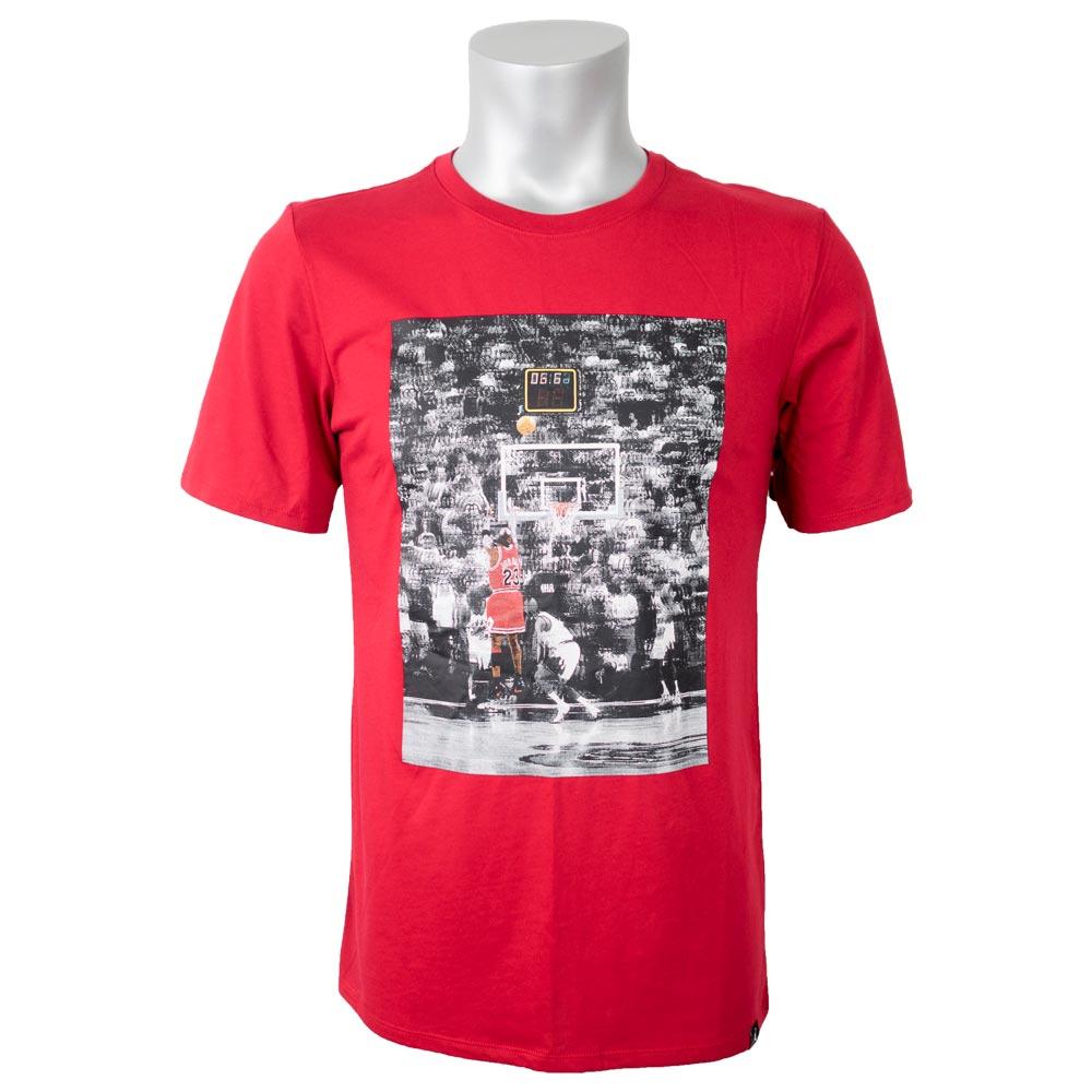 bb5b1e10bf77 14 Nike Jordan  NIKE JORDAN T-shirt short-sleeved nostalgic last shot photo  red AR0034-687