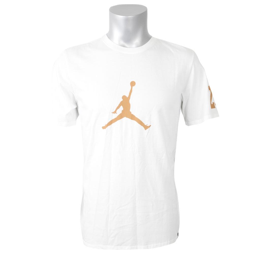 677d909d497a Nike Jordan  NIKE JORDAN T-shirt short sleeves jump man brand mark white  AJ1381-101