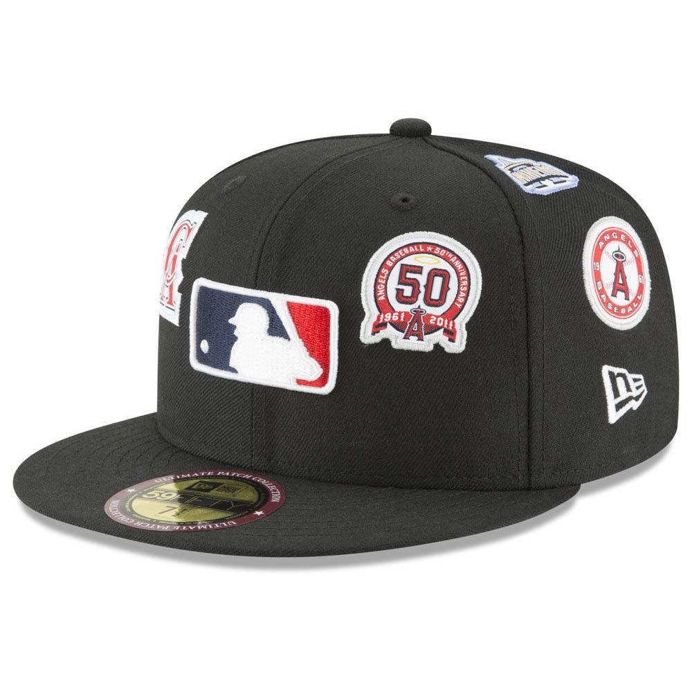 MLB エンゼルス キャップ/帽子 オールオーバー パッチ ニューエラ/New Era ブラック