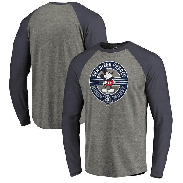 お取り寄せ MLB パドレス ロングTシャツ ディズニー ミッキーマウス ラグラン