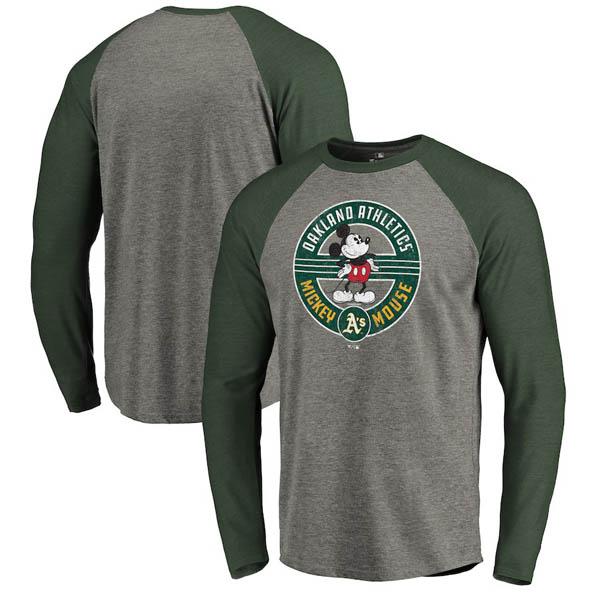 お取り寄せ MLB アスレチックス ロングTシャツ ディズニー ミッキーマウス ラグラン