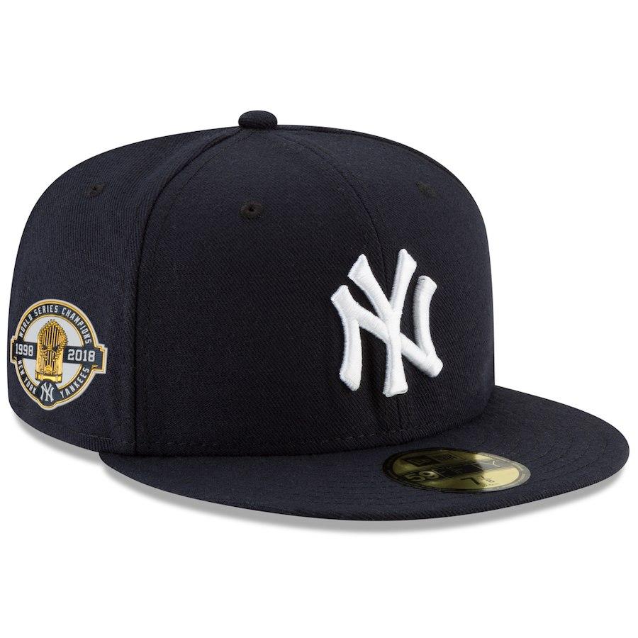 お取り寄せ MLB ヤンキース キャップ/帽子 パッチ付き 1998ワールドチャンピオン 20周年 ニューエラ/New Era