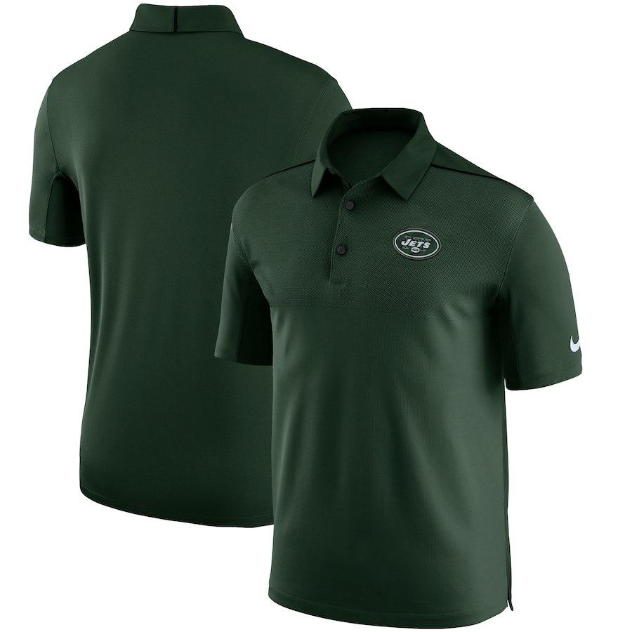 お取り寄せ NFL ジェッツ ポロシャツ サイドライン エリート コーチズ チームカラー ナイキ/Nike