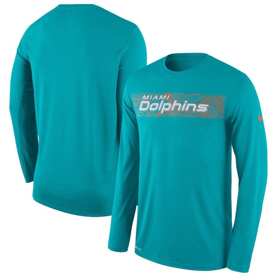 お取り寄せ NFL ドルフィンズ Tシャツ ロング/長袖 サイドライン レジェンド ナイキ/Nike