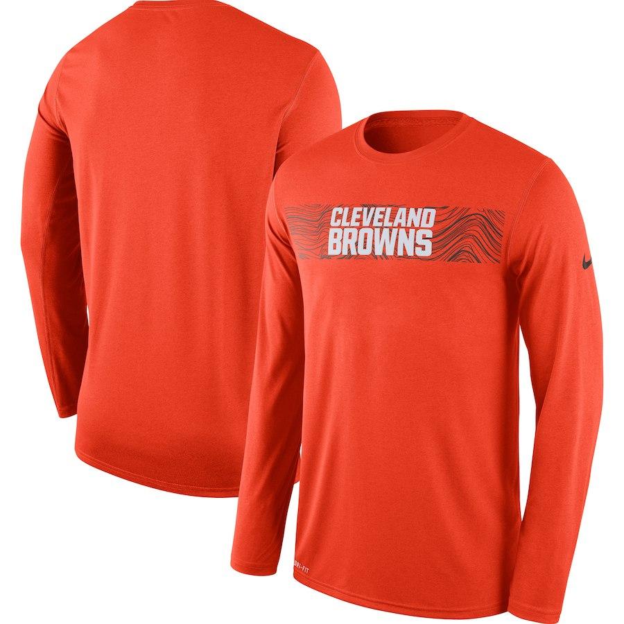 NFL ブラウンズ Tシャツ ロング/長袖 サイドライン レジェンド ナイキ/Nike