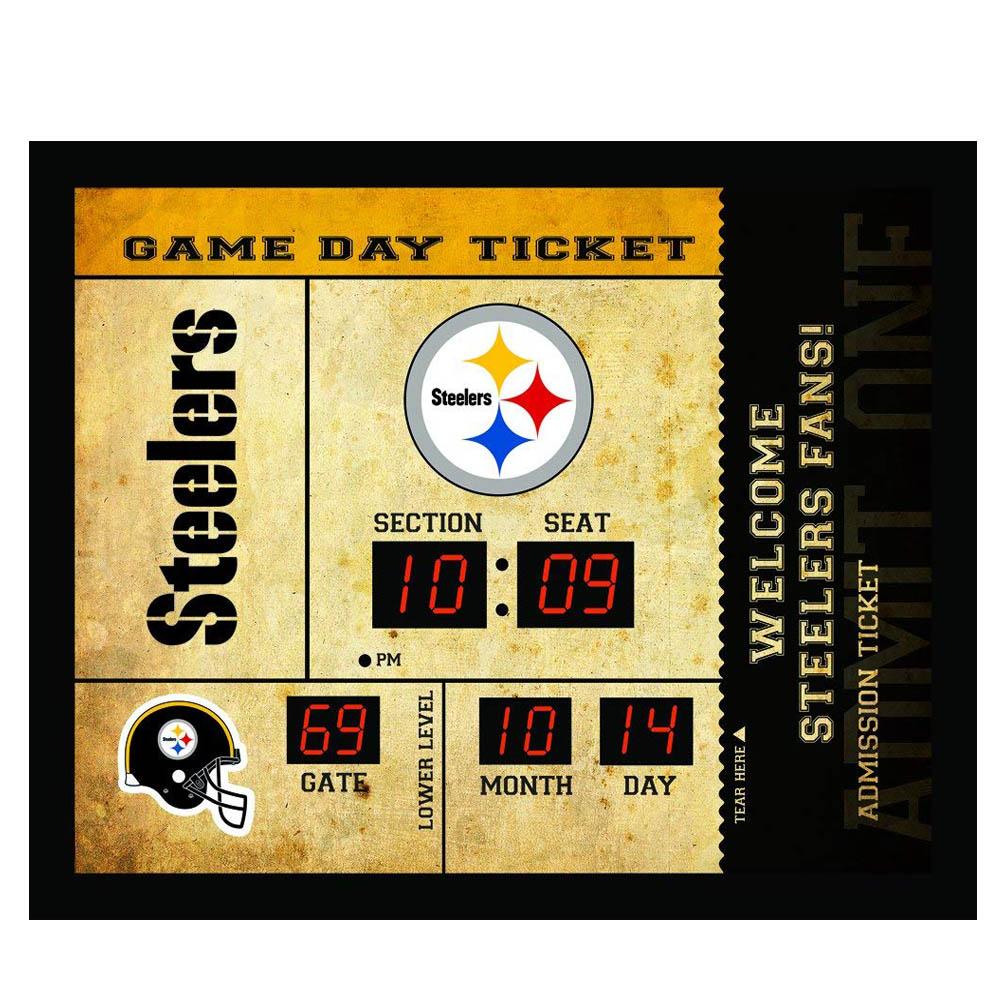 NFL スティーラーズ チケット ウォールクロック/壁時計