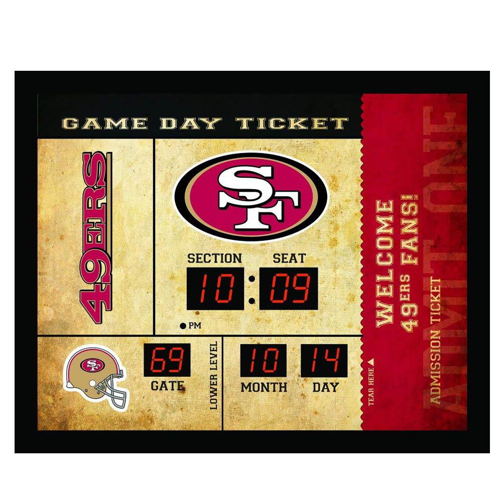 NFL 49ers チケット ウォールクロック/壁時計