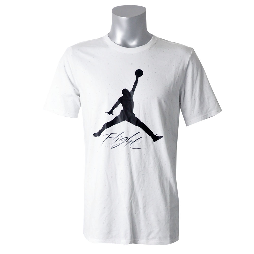 879d95ab9 Nike Jordan /NIKE JORDAN T-shirt flight cement white AA1893-100 ...