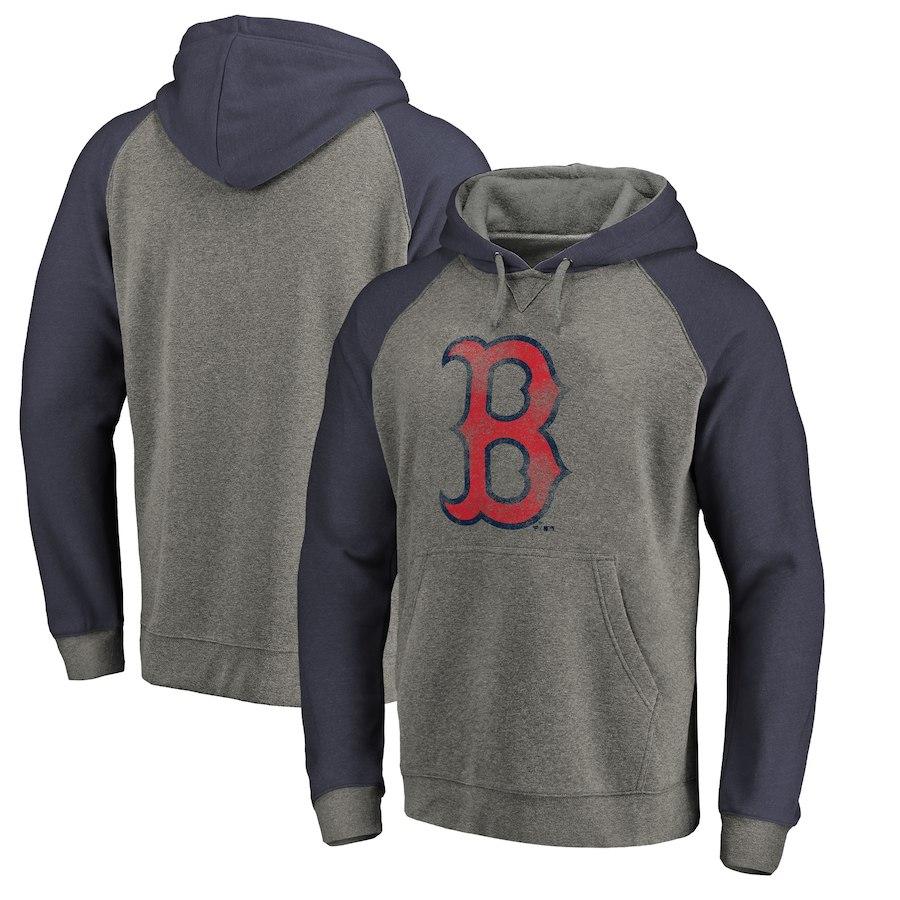 お取り寄せ MLB レッドソックス パーカー/フーディー ディストレスド チームロゴ ラグラン