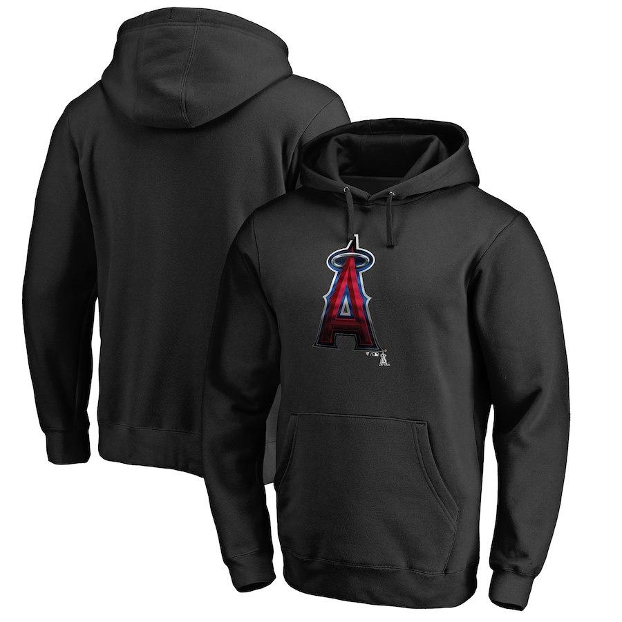 お取り寄せ MLB エンゼルス パーカー/フーディー ミッドナイト ロゴ ブラック