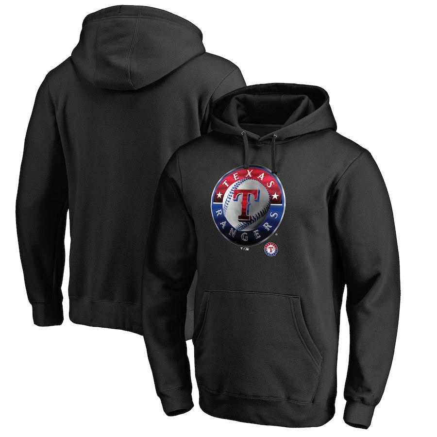 お取り寄せ MLB レンジャーズ パーカー/フーディー ミッドナイト ロゴ ブラック