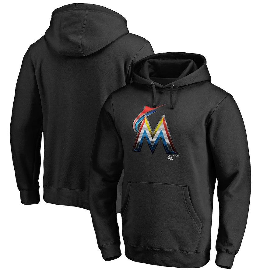 お取り寄せ MLB マーリンズ パーカー/フーディー ミッドナイト ロゴ ブラック
