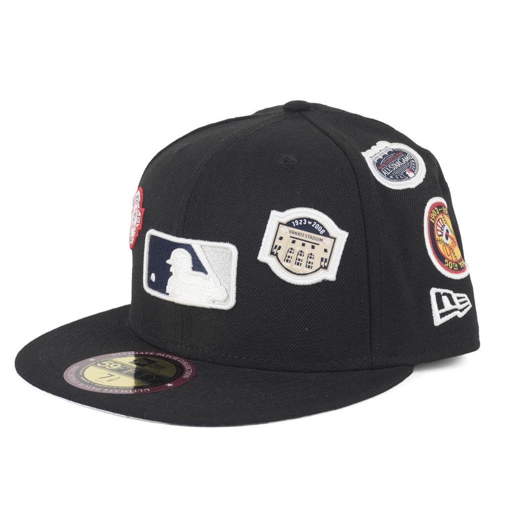 MLB ヤンキース キャップ/帽子 パッチ オールオーバー コレクション ニューエラ/New Era ネイビー