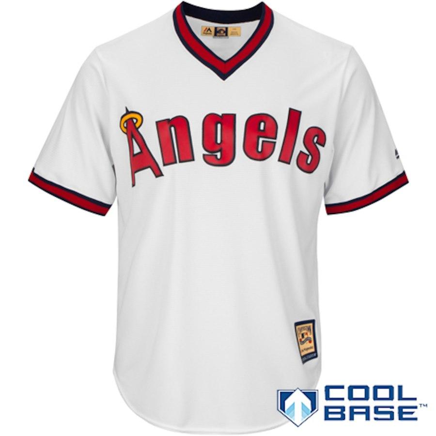 お取り寄せ MLB カリフォルニア・エンゼルス ユニフォーム/ジャージ 復刻 クーパーズタウン マジェスティック/Majestic ホワイト