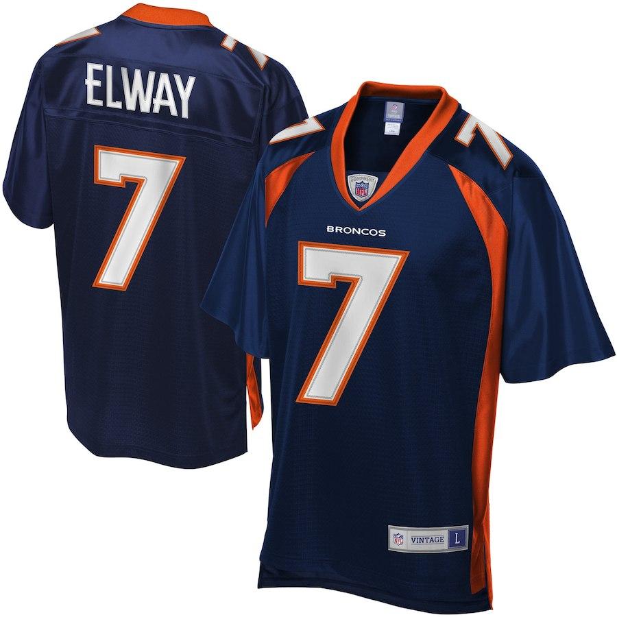 お取り寄せ NFL ブロンコス ジョン・エルウェイ ユニフォーム/ジャージ レジェンド プレーヤー ネイビーブルー
