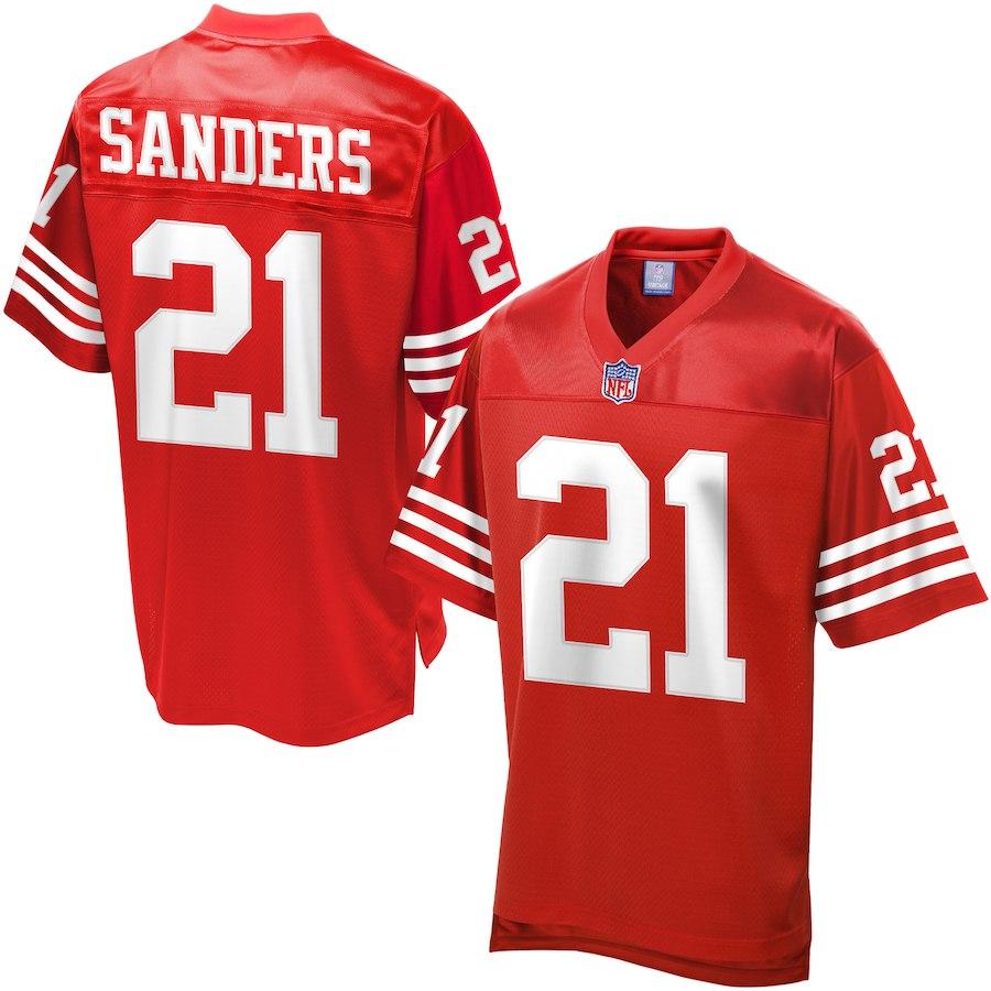 お取り寄せ NFL 49ers ディオン・サンダース ユニフォーム/ジャージ レジェンド プレーヤー スカーレット