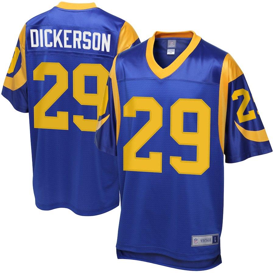 お取り寄せ NFL ラムズ エリック・ディッカーソン ユニフォーム/ジャージ レジェンド プレーヤー ブルー