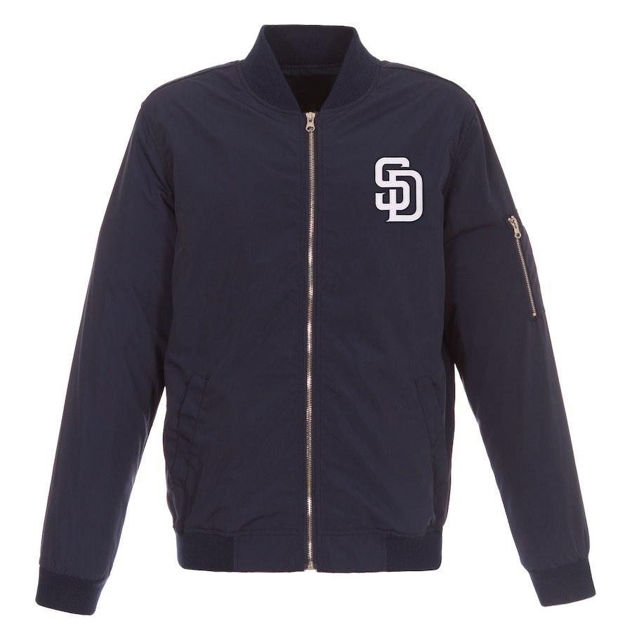 お取り寄せ MLB パドレス ボンバー ジャケット ライトウェイト JHデザイン/JH Design ネイビー