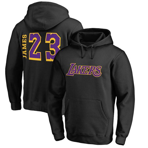 お取り寄せ NBA レイカーズ レブロン・ジェイムス パーカー/フーディー サイドスイープ ネーム&ナンバー ブラック