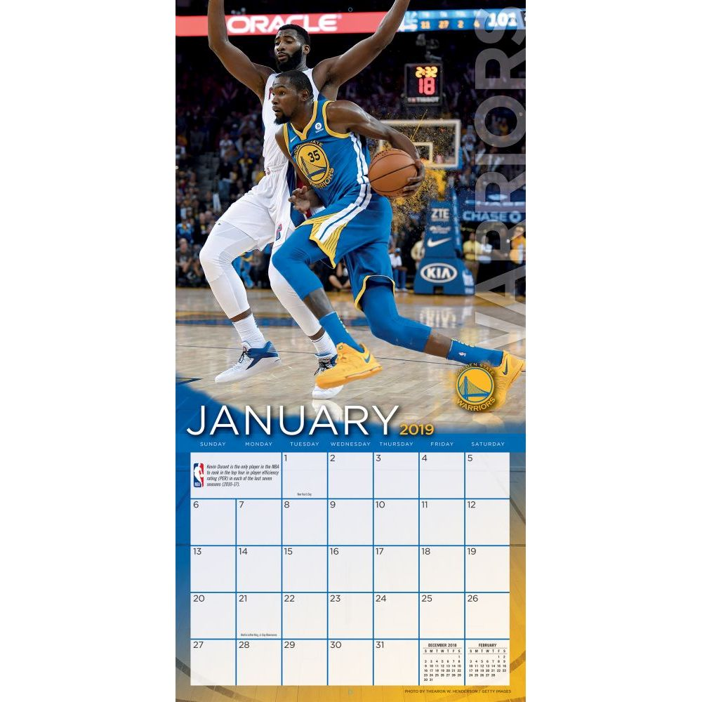 2019 Nba Calendar MLB NBA NFL Goods Shop: Reservation NBA Warriors 2,019 teams