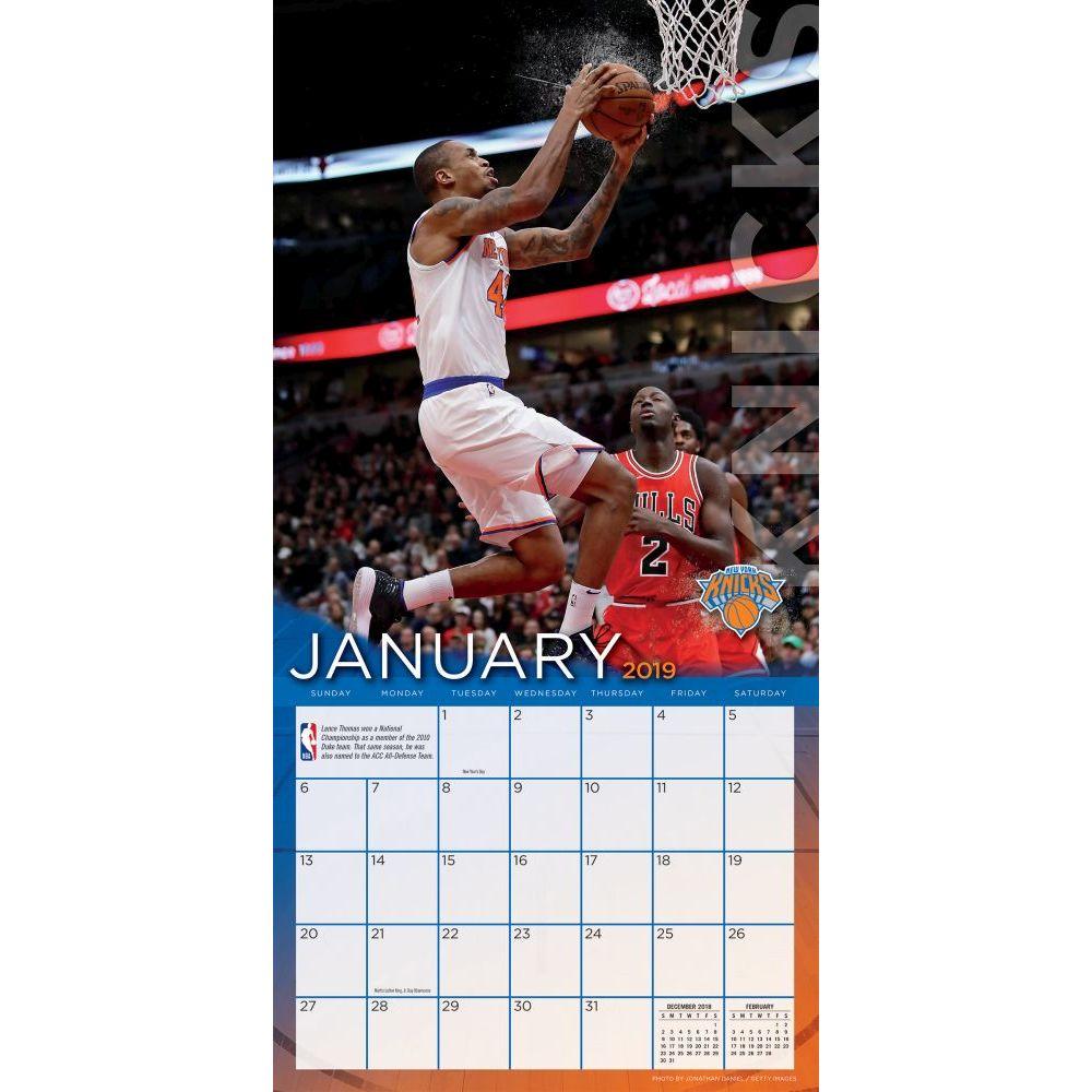Knicks Calendar 2019 MLB NBA NFL Goods Shop: Reservation NBA Knicks 2,019 teams