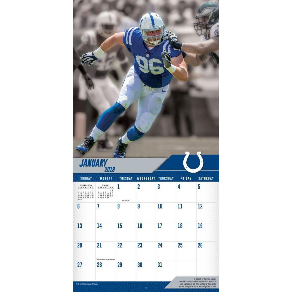 Colts Calendar 2019 MLB NBA NFL Goods Shop: Reservation NFL Colts 2,019 teams calendar