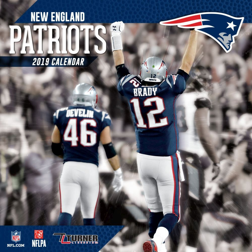New England Patriots 2019 Calendar MLB NBA NFL Goods Shop: Reservation NFL Patriots 2,019 teams