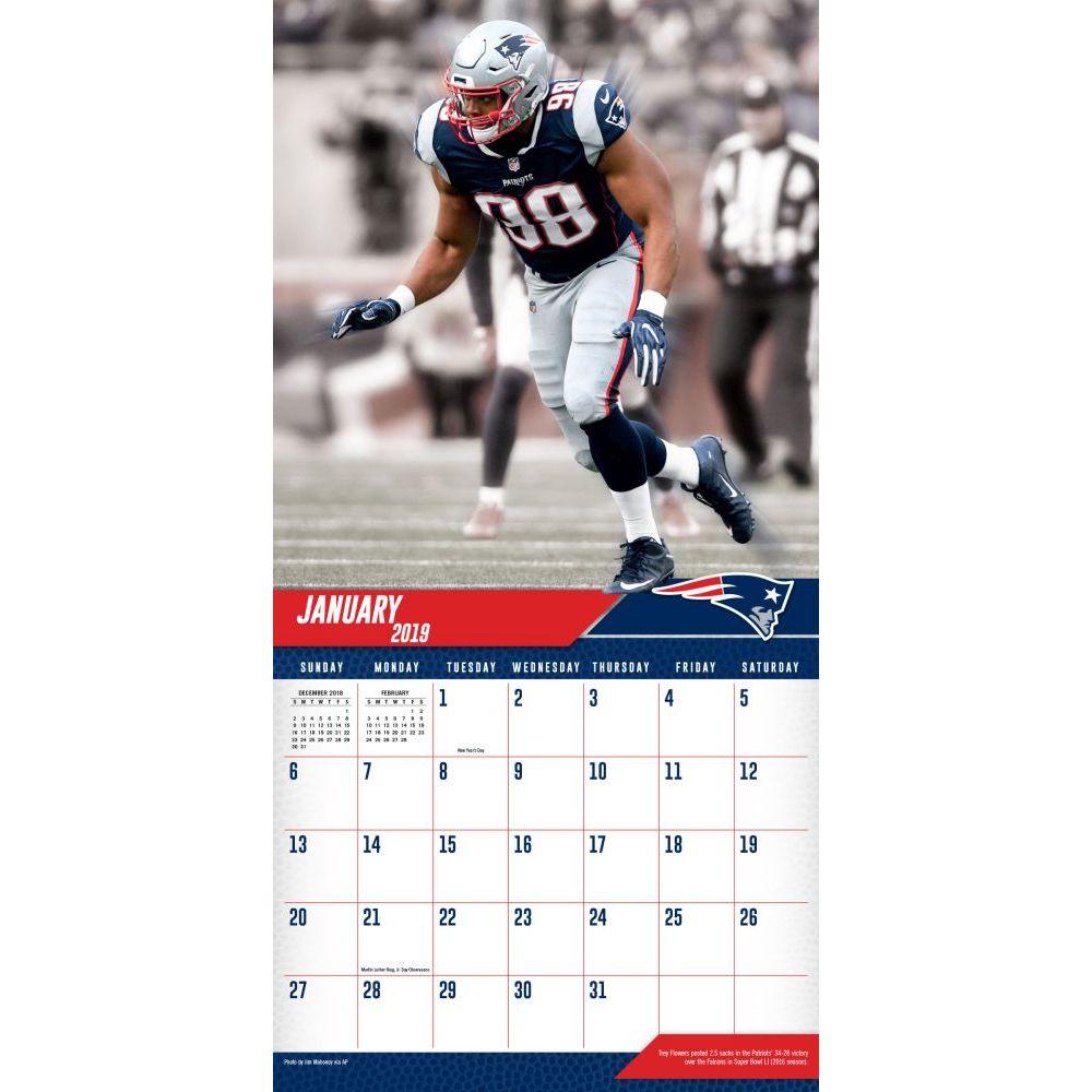 Patriots Calendar 2019 MLB NBA NFL Goods Shop: Reservation NFL Patriots 2,019 teams