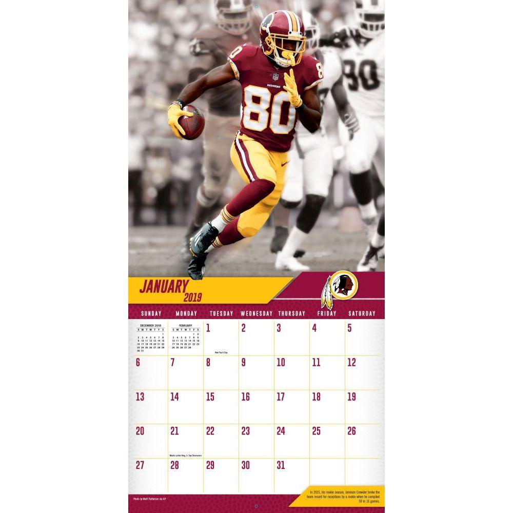 NFL Washington Redskins 2019 Wall Calendar