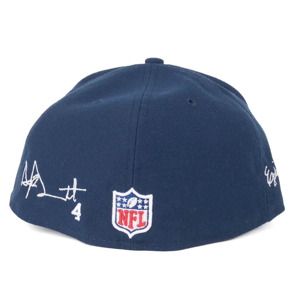 NFL Cowboys duck Prescott   Ezekiel Eliot cap   hat signature embroidery  customization new gills  New Era navy a62d6f5c30e