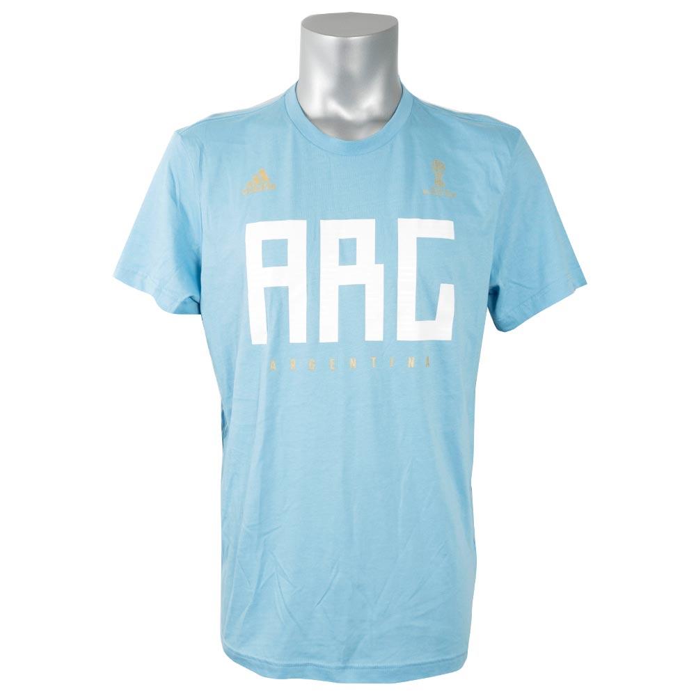 サッカー アルゼンチン代表 Tシャツ 半袖 2018 FIFA ワールドカップ チームプライド アディダス/Adidas ライトブルー【1910価格変更】