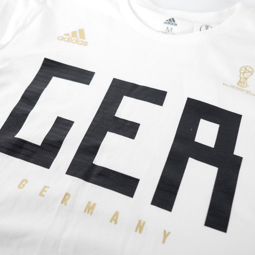 d3b7a7ae81c Representative from soccer Germany T-shirt short sleeves 2018 FIFA World  Cup team pride Adidas  Adidas white