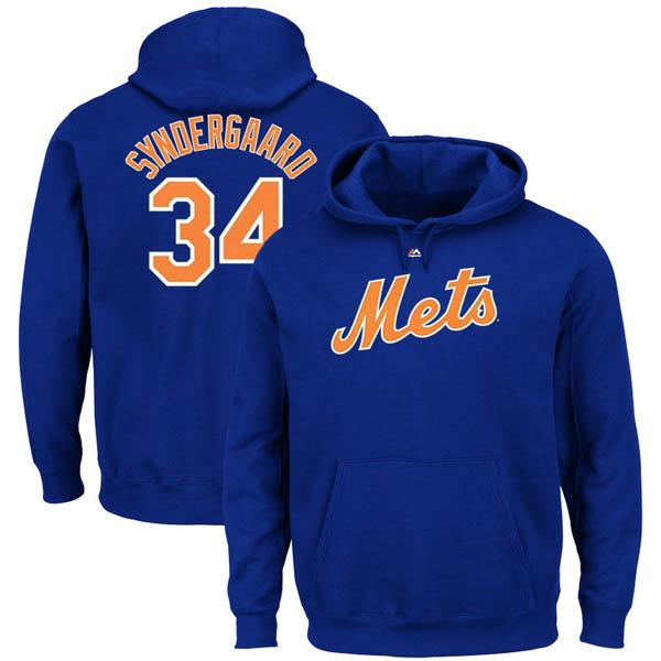 お取り寄せ MLB メッツ ノア・シンダーガード パーカー/フーディー ネーム&ナンバー マジェスティック/Majestic ロイヤル