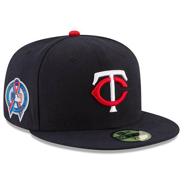 お取り寄せ MLB ツインズ キャップ/帽子 9/11追悼 選手着用 2018 ニューエラ/New Era