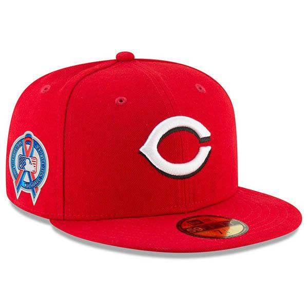 お取り寄せ MLB レッズ キャップ/帽子 9/11追悼 選手着用 2018 ニューエラ/New Era