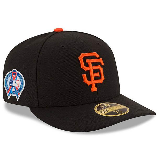 お取り寄せ MLB ジャイアンツ キャップ/帽子 9/11追悼 選手着用 2018 ロークラウン ニューエラ/New Era
