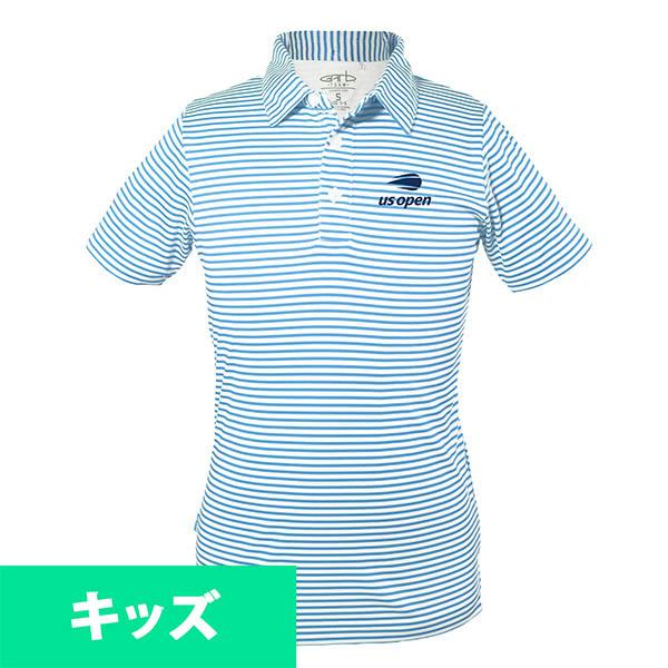 お取り寄せ ポロシャツ 2018 全米オープン/USオープン テニス ストライプ キッズ