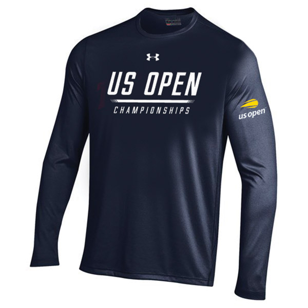 お取り寄せ ロングTシャツ 2018 全米オープン/USオープン テニス テック ロゴ アンダーアーマー/UNDER ARMOUR ネイビー