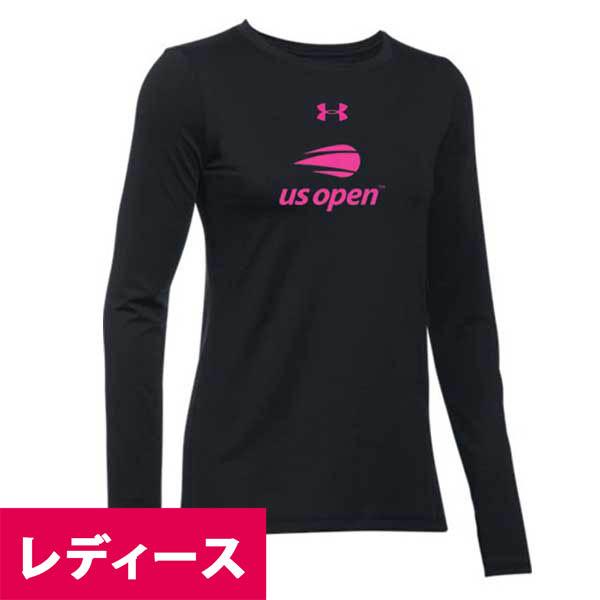 お取り寄せ ロングTシャツ 2018 全米オープン/USオープン テニス コットン レディース アンダーアーマー/UNDER ARMOUR