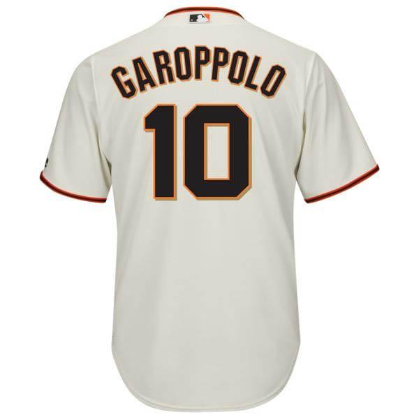 お取り寄せ MLB ジャイアンツ ジミー・ガロポロ NFL×MLB クロスオーバー ユニフォーム マジェスティック/Majestic ホワイト