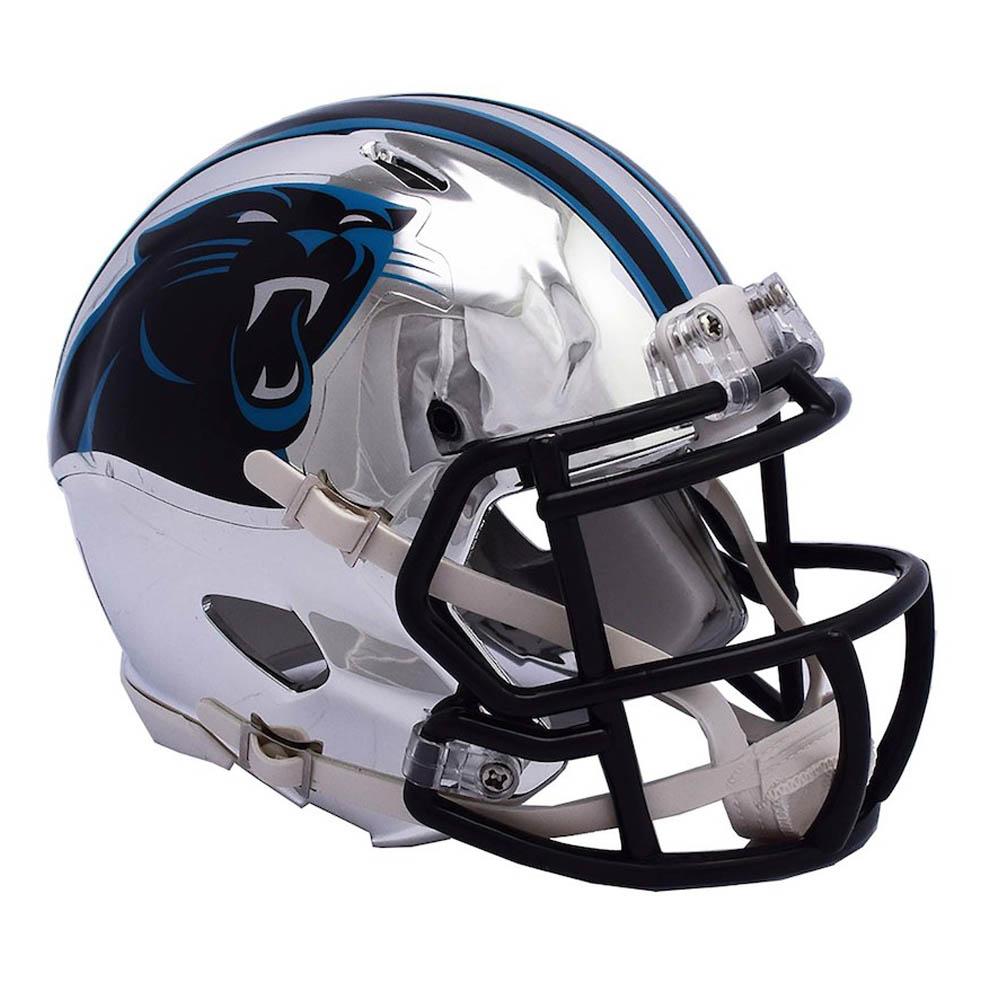 NFL パンサーズ ミニ ヘルメット フットボール クローム オルタネート スピード リデル/Riddell【1910価格変更】