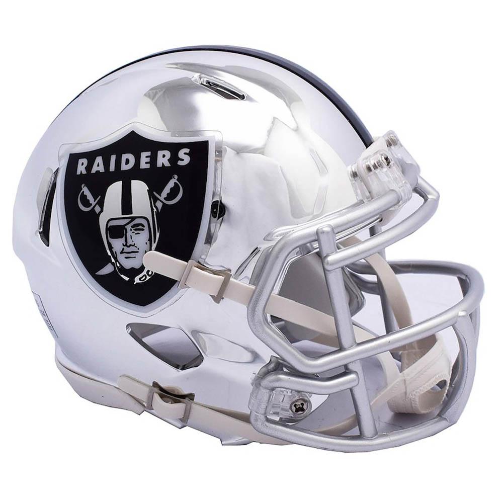 NFL レイダース ミニ ヘルメット フットボール クローム オルタネート スピード リデル/Riddell【1910価格変更】