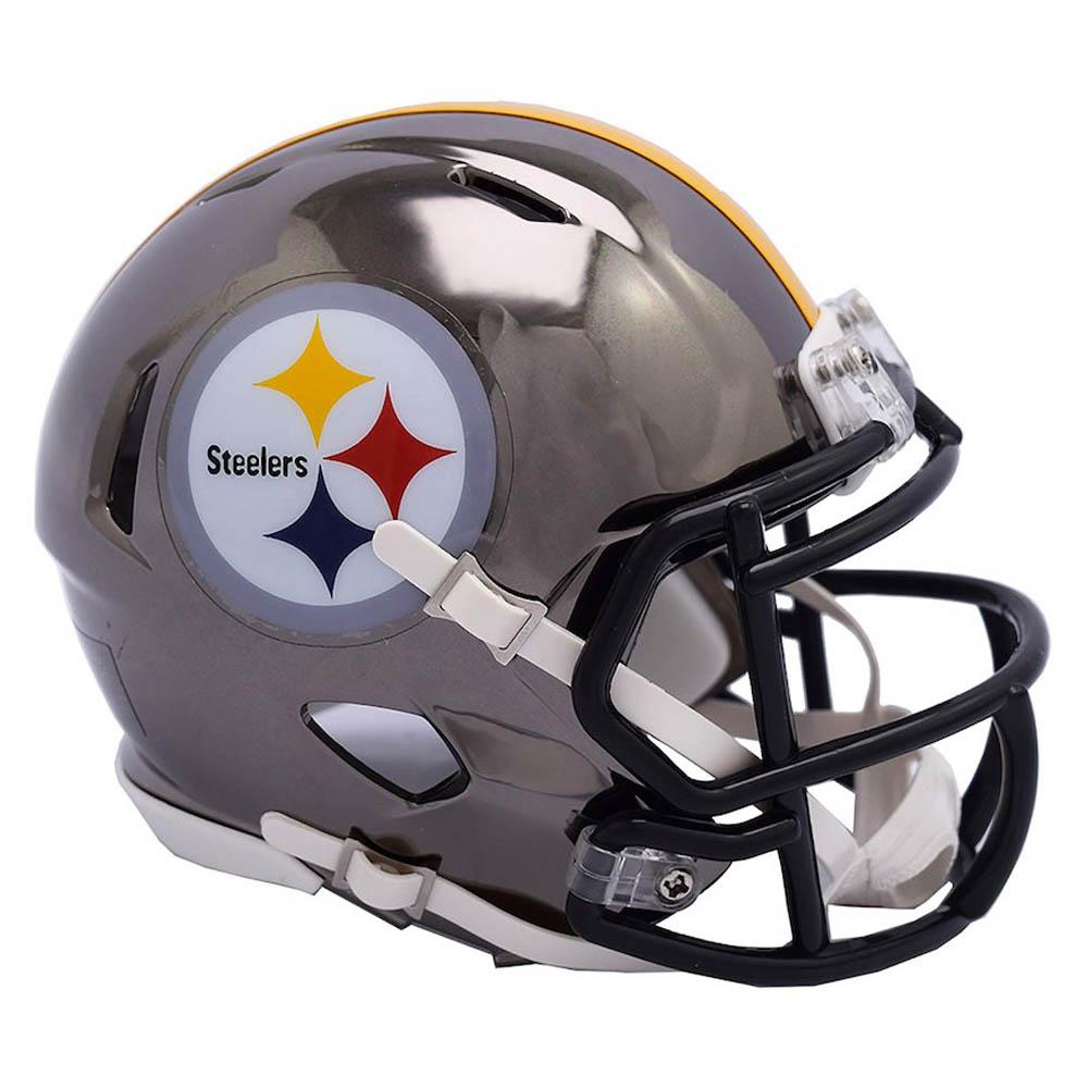 9351b0e40 NFL Steelers mini-helmet football chrome alternate speed re-Dell  Riddell