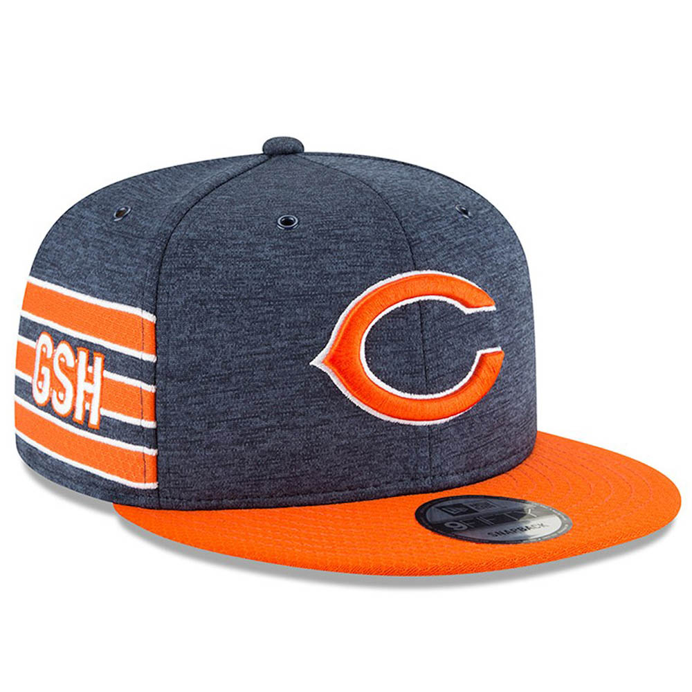 12277d67d96 NFL Bears cap   hat 2018 side line 9FIFTY adjuster bulldog new gills  New  Era home