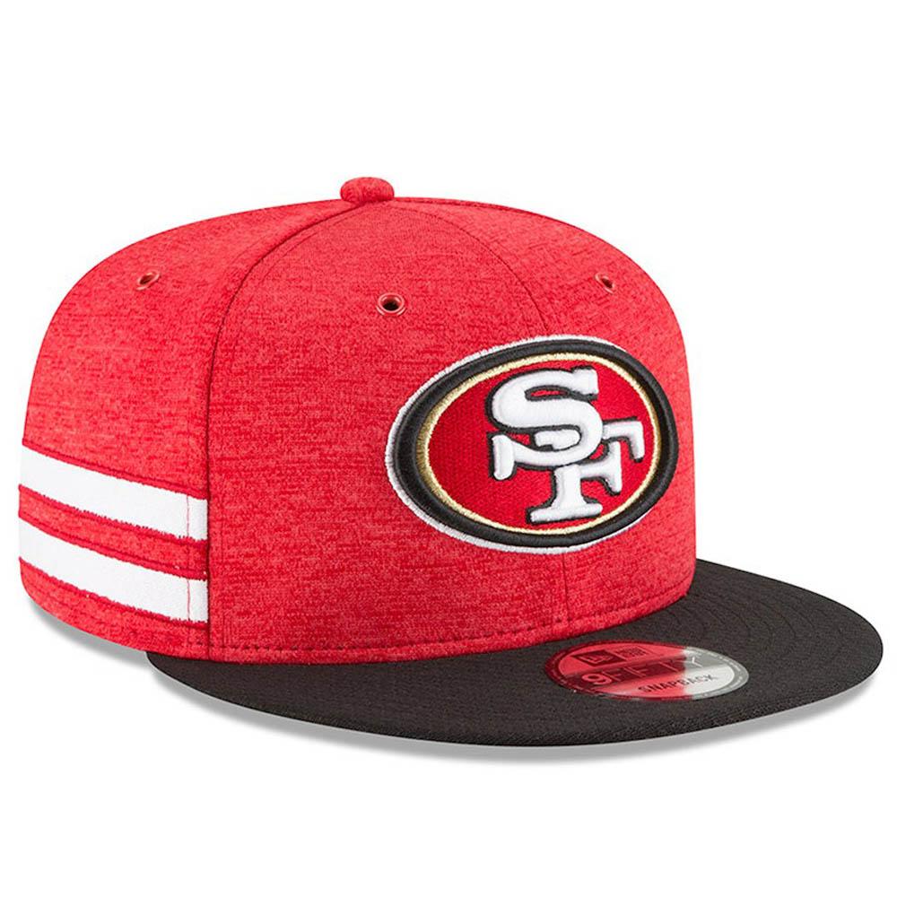 NFL 49ers キャップ/帽子 2018 サイドライン 9FIFTY アジャスタブル ニューエラ/New Era ホーム【1910価格変更】【191028変更】