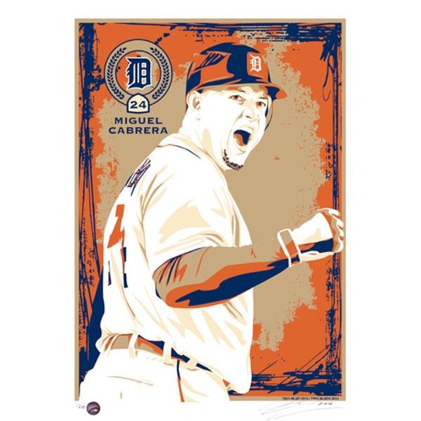 お取り寄せ MLB タイガース ミゲル・カブレラ シルクスクリーン アート インテリア