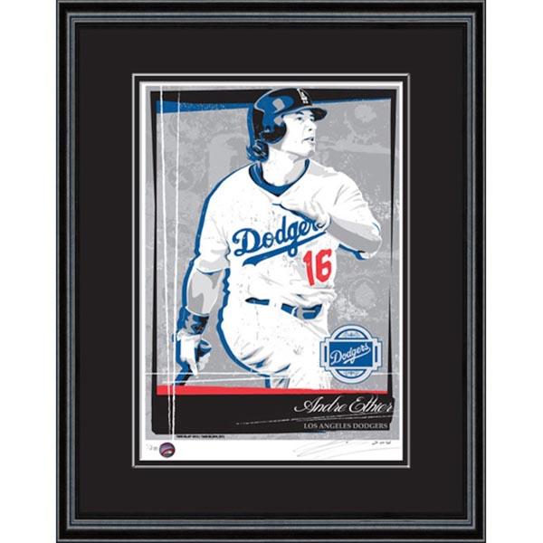 お取り寄せ MLB ドジャース アンドレ・イーシア シルクスクリーン アート インテリア